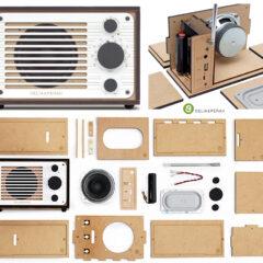 Rádio e Caixa de Som Bluetooth Celia & Perah R1 DIY para Montar Você Mesmo!