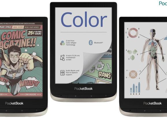 Leitor Digital PocketBook Color E-Reader com Tela E Ink Kaleido Colorida