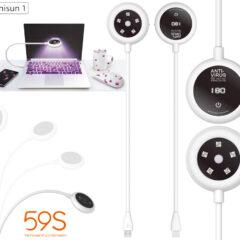 Luminária USB da 59S com LED Ultravioleta que Mata o Vírus Covid-19