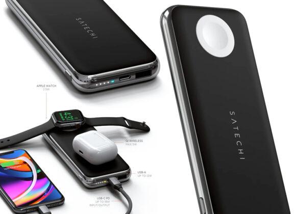 Power Bank Satechi Quatro Wireless com Carregamento Sem Fio e 10,000mAh