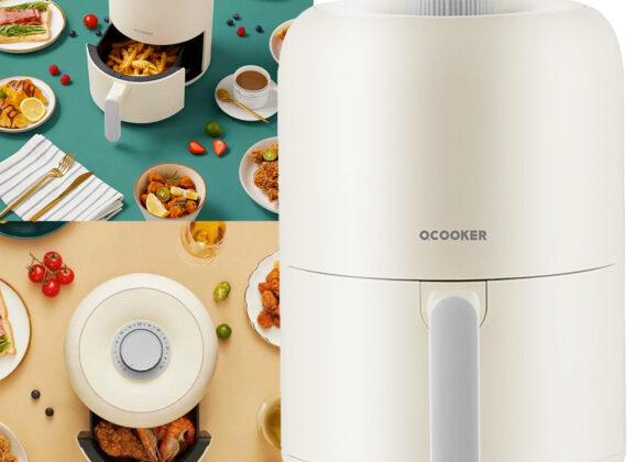 Air Fryer Xiaomi Qcooker com Lindo Design Retro