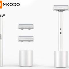 Barbeador Elétrico Xiaomi MKODO T1 com Design Minimalista e Vibrações de Alta Frequência