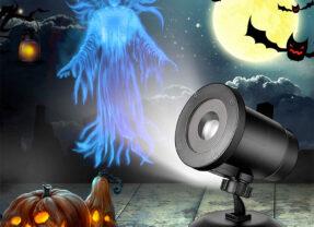 Projetor de Halloween com uma Fantasma Flutuante