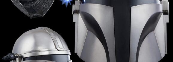 Capacete Eletrônico do Pistoleiro Mando da Série Star Wars The Mandalorian