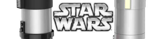 Moedores Elétricos de Sal e Pimenta Star Wars Lightsabers com Sabres de Luz de Luke e Darth Vader