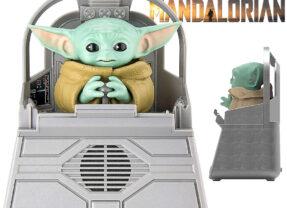 Caixa de Som Star Wars: The Mandalorian com Grogu Animatrônico (Baby Yoda)