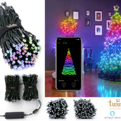 Luzes de Natal Inteligentes Twinkly Smart LED com Bluetooth e Alexa