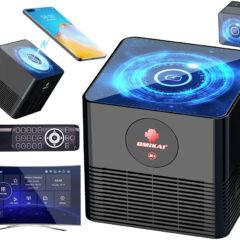 TV Box Omikai K1 Android com Carregador Sem Fio para Smartphones