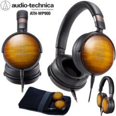 Fone de Ouvido Audio-Technica ATH-WP900 Wooden com Acabamento de Madeira