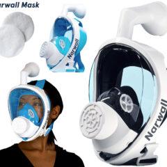 Máscara Facial Narwall Mask com Proteção Antiviral de 99.5%