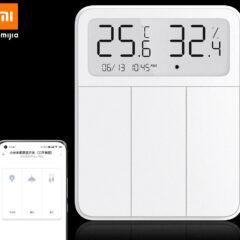Interruptor Inteligente Xiaomi Mijia Screen com Termômetro e Higrômetro