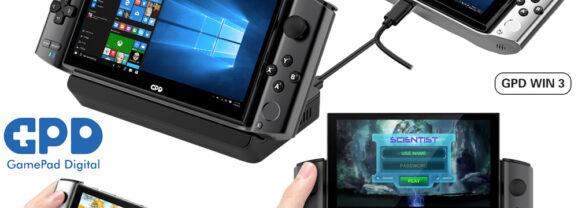Console de Games Portátil GPD WIN3 com Windows 10