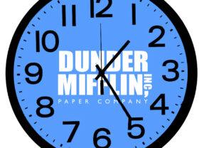 Relógio de Parede Dunder Mifflin da Série The Office
