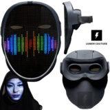 Máscara LED da Lumen Couture Mostra Seu Rosto ou Diversas Animações