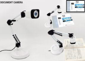 Câmera de Documentos no Formato de uma Luminária Tipo Arquiteto
