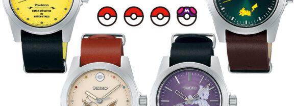 Relógios de Pulso Pokémon Seiko com Pikachu, Eevee e Mewtwo