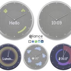 Relógio de Parede Inteligente Glance Clock com App para Smartphones