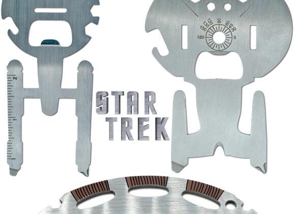 Ferramentas Multiuso Star Trek: Enterprise NCC-1701, Enterprise NCC-1701-D e Klingon Bat'leth