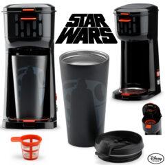 Cafeteira Star Wars com Caneca Darth Vader de Metal