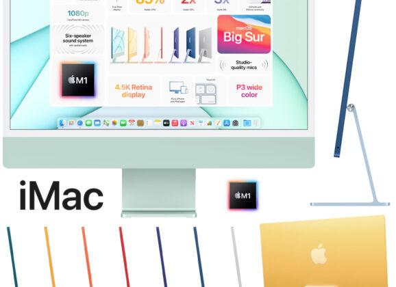 iMac 2021, O Novo Computador da Apple em 7 Cores Diferentes
