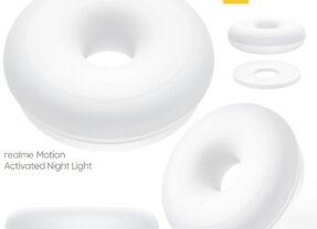 Luz Noturna Realme Night Light com Forma de Donut e Sensor de Movimentos