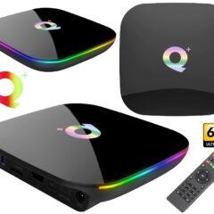 TV Box Android Q Plus com Streaming em 6K