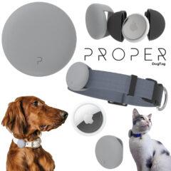 Coleira Proper DogTag para Localizar Cães e Gatos com AirTag da Apple
