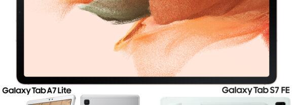 Novos Tablets Samsung Galaxy Tab S7 FE e Galaxy Tab A7 Lite