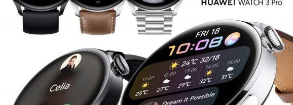 Relógios Smartwatch Huawei Watch 3 e Watch 3 Pro