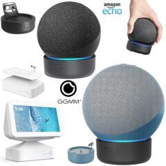 Bases com Baterias para Amazon Echo Dot 4, Novo Echo e Echo Show 5