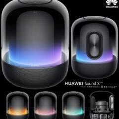 Caixa de Som Huawei Sound X 2021 com Degradê Transparente