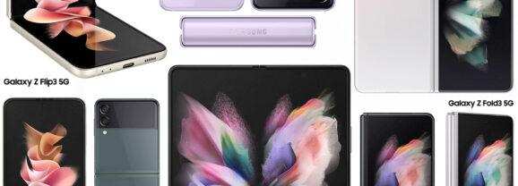 Os Novos Smartphones Dobráveis Galaxy Z Flip3 e Galaxy Z Fold3 da Samsung