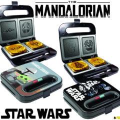 Sanduicheiras Star Wars que Estampam Baby Yoda, Mando, Darth Vader e Stromtrooper no Misto-Quente