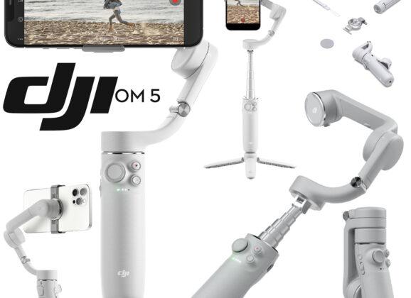 Novo Gimbal DJI Osmo Mobile 5 com Bastão de Selfie Telescópico