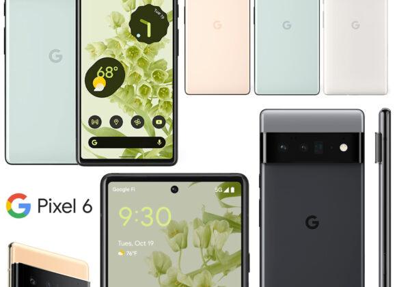 Smartphones Pixel 6 e Pixel 6 Pro com o novo processador Google Tensor