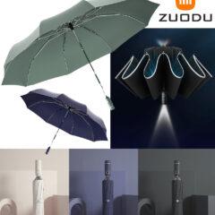 Guarda-Chuva Xiaomi Zuodu com abertura reversa e lanterna LED